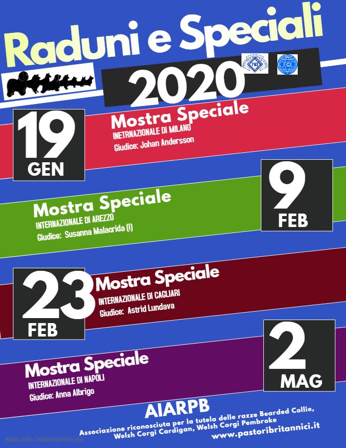 Raduni e Mostre Speciali 2020