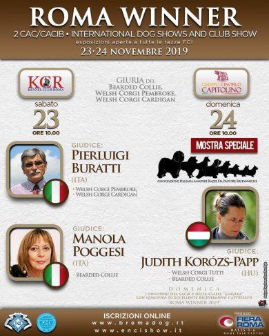 Esposizioni Internazionali di Roma del 23/24 Novembre 2019